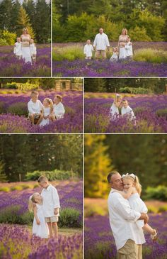 Family of five photography poses. Family portraits in the lavender fields. Salem, Oregon family photographer.  www.serendipityphotography.biz