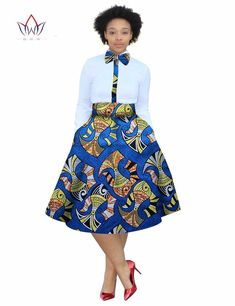 2017 christmas dress Plus Size 2 Pieces African Print Dashiki Shirt Skirt Set Bazin Rche Femme Africa Clothing natural African Dresses For Women, African Print Dresses, African Attire, African Fashion Dresses, African Wear, African American Fashion, African Print Fashion, Africa Fashion, Dashiki Shirt