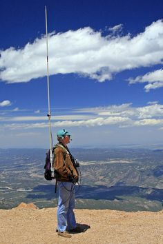 mobile backpack antenna