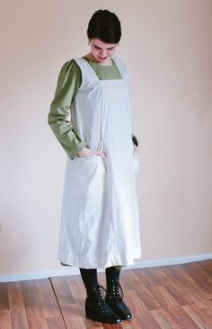 Our canning apron apron is made to order with your custom measurements and color choice! The canning apron is our favorite, fuss-free cover up--
