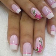 French Manicure Nails, French Nails, Manicure And Pedicure, Purple Nails, Bling Nails, Fabulous Nails, Gorgeous Nails, Cute Nails, Pretty Nails