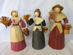 Corn Husk Doll  Vintage Corn Shuck Doll by ThePineTreeShop on Etsy