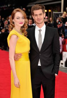 THE AMAZING SPIDER-MAN 2  London, England - April 10, 2014: Emma Stone and Andrew Garfield attend THE AMAZING SPIDER-MAN 2 World Premiere at the Odeon Leicester Square. © 2014 Getty Images