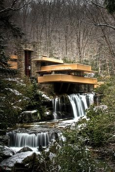 Famous Waterfall House by Frank Lloyd Wright