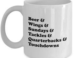nfl football list funny mug gift for sports fan quarterback touchdown coffee cup