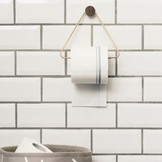 FREE UK shipping over This stylish brass triangle toilet paper roll holder by Ferm Living will transform your bathroom. UK / London stockist of Ferm Living. Danish brand Ferm Living have a beautiful range Brass Toilet Paper Holder, Toilet Paper Dispenser, Bathroom Design Small, Modern Bathroom, Modern Toilet, Small Toilet Design, Bathroom Gray, Stone Bathroom, Loo Roll Holders