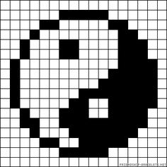 Easy Pixel Art, Pixel Art Grid, Graph Paper Drawings, Graph Paper Art, Fuse Bead Patterns, Beading Patterns, Pixel Pattern, Pattern Art, Pearl Beads Pattern