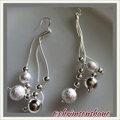 """925 Silver Nickel Free Danglers These gorgeous, silver drop earrings measure 3.5"""" long and are stamped 925. 4 available  Top-Rated Seller Fast Shipper Top 10% Seller Discount on Bundles Free Gift For All Orders $20 & up No Paypal No Trades Jewelry"""