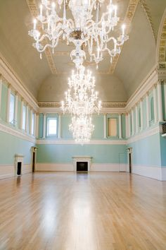 Farrow & Ball's Ballroom Blue, on the walls of the ballroom at Bath Assembly Rooms