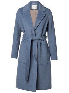 Wool coat - Light Blue Melange