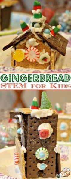 Kids will love this simple gingerbread house STEM project! Create engineering masterpieces by designing and building unique and edible structures this holiday season! Educational Activities For Kids, Christmas Activities For Kids, Stem Activities, Kids Christmas, Retro Christmas, Winter Activities, Christmas Snowman, Christmas Christmas, Kindergarten Stem
