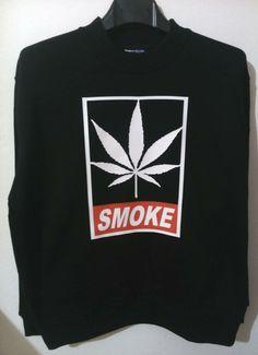 Sweatshirt Man / Woman * OBEY SMOKE *  Urban Style Cannabis Marijuana