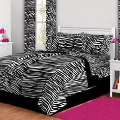 Zebra Print - Teen Girls TWIN XL Bed In A Bag (5 Piece). Bed In A Bag Set Comforter, Sheets, Shams & Pillowcases. Ideal Gift For Teen Girls. Bedding Sets Include Everything You Need In One. Twin XL Teen Girls Bedding In Zebra Print. Home Decor http://www.amazon.com/dp/B00OZ9Q1ZU/ref=cm_sw_r_pi_dp_oRrBub0RDQEQK