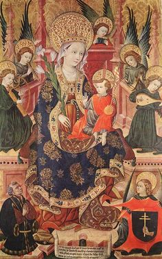 Madonna musician angels and donor / UNKNOWN MASTER, Spanish (fl. 1430s, Aragon) / 1439 Museo Lazaro Galdiano, Madrid