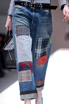 15 Ideas For Sewing Diy Jeans Jeans Recycling, Recycle Jeans, Diy Jeans, Men's Jeans, Jeans Refashion, Diy Clothing, Sewing Clothes, Modest Clothing, Modest Outfits
