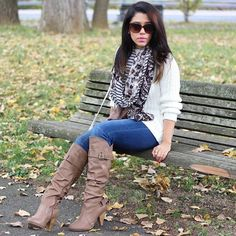 """Knee High Boots Only worn once. Scrunchy faux leather material with buckle. About 3"""" heel. Charlotte Russe Shoes Heeled Boots"""