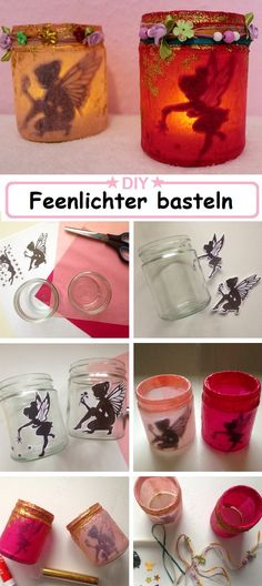 Kreative DIY Ideen I Bastelideen für Kinder und Erwachsene I Einfach und günstig nachmachen I Magische Feenlichter I Tinkerbell Deko Easy Diy Crafts, Diy Crafts To Sell, Diy Crafts For Kids, Diy Upcycled Art, Upcycled Furniture Before And After, Home Decor Wall Art, Tinkerbell, Handmade, Furniture Ideas