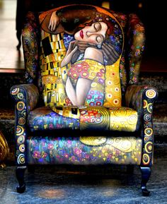 Gustav Klimt chair!! How AWESOME !!                                                                                                                                                                                 More
