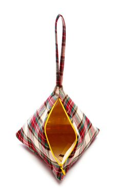 M'O Exclusive: Young Tartan Pyramid Pouch by Slow and Steady Wins the Race Now Available on Moda Operandi