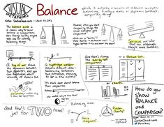 Visual-metaphors-balance #Sketchnotes