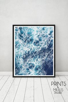 Ocean Print Ocean wall art Ocean Art Ocean by PrintsMiuusStudio