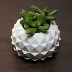 Polygon Lotus 3D Printed Planter, Studded Abstract plant pot, Great Gifts, Geometric Decor, Minimal Eastern Decor, Gift Idea