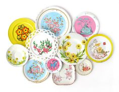 Summer Garden flower saucers