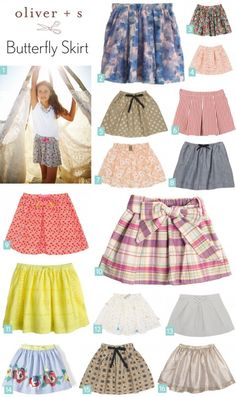 Fabric and styling inspiration for the Oliver + S Butterfly Skirt