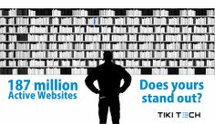 187 million active websites, Does yours stand out?