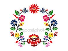 Hungarian Embroidery Patterns A beautiful hungarian Kalocsai floral pattern. Hungarian Embroidery, Folk Embroidery, Learn Embroidery, Chain Stitch Embroidery, Embroidery Stitches, Bordado Popular, Embroidery Designs, Stitch Head, Motif Floral
