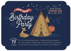 birthday party invitations - Bring the Tipi Birthday Party at Minted.com