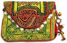 Vintage Banjara Large Clutch bag gypsy Indian Boho colorful hippie embroidery  | eBay