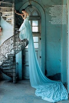 Tim Walker, Lily Cole wearing a Stella McCartney gown, shot in Gujarat, India, for  Vogue July 2005.