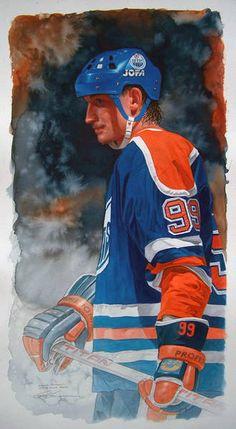 A Study in Greatness - Glen Green Sports - Sports Art Sports Art, Sports Decor, Sports Pics, Canada Hockey, Hockey Pictures, Sports Painting, Hockey Season, Wayne Gretzky, Sport Icon