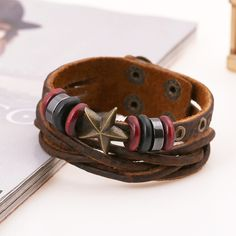 Leather Bracelets For Male Cowhide Braclets For Femme Pulseira Homens Masculina Couro Friendship