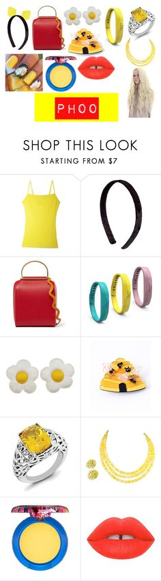"""""""Phoo Accessories"""" by killmenowplease ❤ liked on Polyvore featuring Cosabella, Roksanda, Fitbit, Erstwilder, MAC Cosmetics and Lime Crime"""