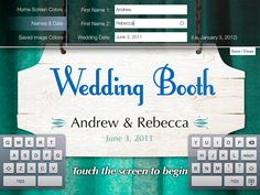 Wedding Booth is the perfect alternative if renting a physical photo booth is financially out of reach for your wedding. The color slider controls allow you to match your wedding's color schemes to Wedding Booth's background.