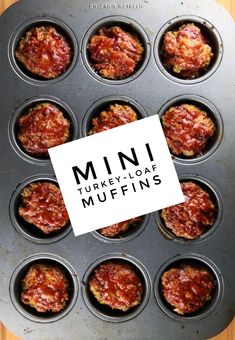 Mini turkey-loaf muffins recipe