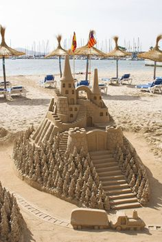 Spending the day at the beach? Here's a cool sand castle that you might want to try and make!