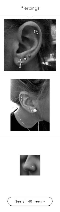 """""""Piercings"""" by catie456 ❤ liked on Polyvore featuring jewelry, earrings, piercings, ear piercing, earrings jewelry, accessories, nose piercings, bride earrings, bridal earrings and pink rose earrings"""