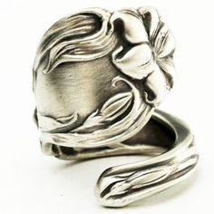 Spoon Ring Art Nouveau Rare Lily Sterling Silver Spoon by Spoonier, $72.50