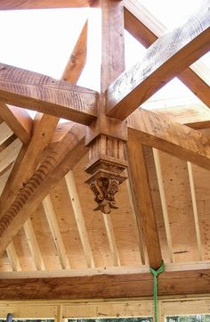 This self-taught woodcarver used to design warheads for a living. Now his attention has turned to more tranquil and inspiring projects. Timber Window Frames, Timber Windows, Timber Frame Homes, Mountain Home Exterior, Mountain Homes, Japanese Joinery, Wood Tables, Dining Tables, Side Tables