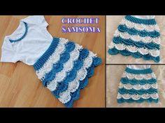 Crochet Dress Girl, Crochet Girls, Crochet Baby, Crochet Top, Girls Dresses, Tops, Women, Fashion, Dresses Of Girls