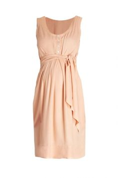 Una Maternity and Nursing Summer Dress Peach