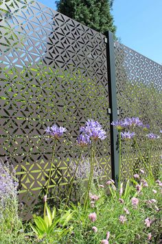 Stark and Greensmith Aluminium Motif panel Back Gardens, Outdoor Gardens, Metal Garden Screens, Exterior Handrail, Decorative Screen Panels, Balustrades, Garden Screening, Garden Makeover, Garden Landscape Design