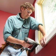 Most trim carpenters don't even use a tape to trim window casing. It's all done by eye, with a sharp pencil, a miter saw and an 18-gauge nailer.