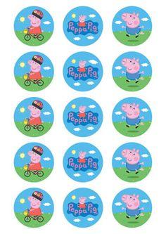 Peppa Pig cupcake toppers (15)