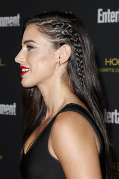 Try the trendy side-shaved look without committing by braiding thin cornrows into one side of your head.