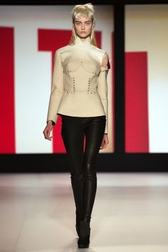 Jean Paul Gaultier Fall 2013 Collection: top inspired by the greek cuirass
