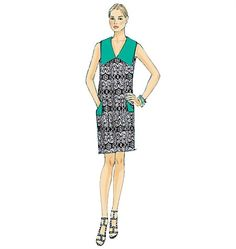 Patron de robe - Vogue 9147